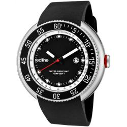 Red Line Men's 'Driver' Black Silicon Watch