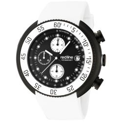 Red Line Men's 'Driver' White Chronograph Watch