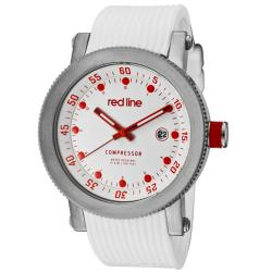 Red Line Men's 'Compressor' White Textured Silicon Watch