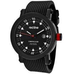 Red Line Men's 'Compressor' Black Textured Silicon Watch