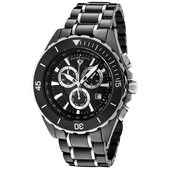 Swiss Legend Men's 'Identity' Black Ceramic/Stainless Steel Watch
