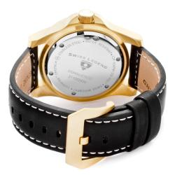 Swiss Legend Men's 'Conqueror' Black Genuine Leather Watch