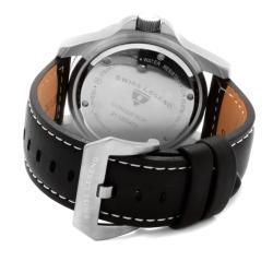 Swiss Legend Men's 'Conqueror' Black Genuine Leather Watch