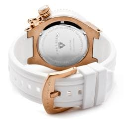 Swiss Legend Unisex 'Neptune Ceramic' White Silicon Watch