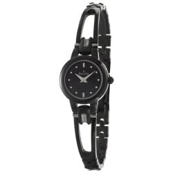Bulova Women's 'Bracelet' Black Stainless Steel Quartz Watch