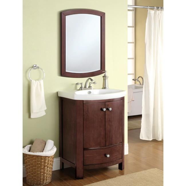 Winston Walnut Sink And Mirror Vanity Set 14044445