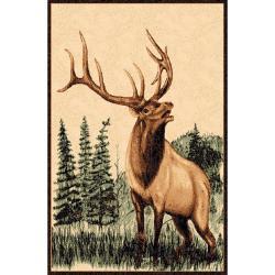 Elk Brown Area Rug (5'x7')