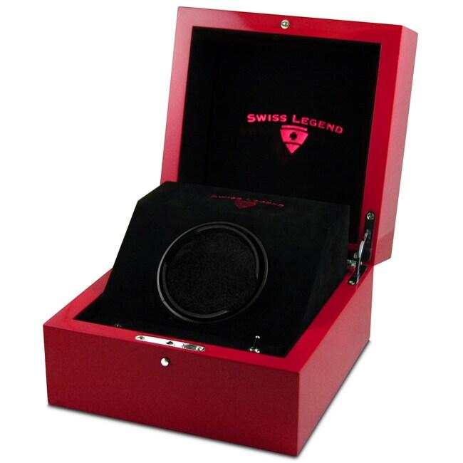 Swiss Legend Red PU Lacquer Watch Winder Watch