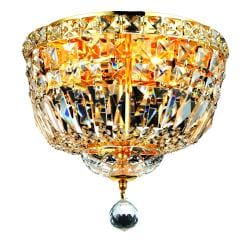 Gold Four-light Flush Mount Fixture