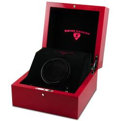 Swiss Legend Red PU Lacquer Watch Winder Watch