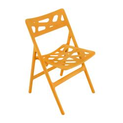 Cyclone Orange Indoor/Outdoor Folding Chairs (Set of 2)