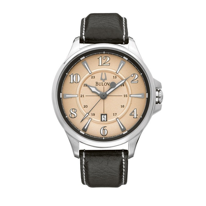 Bulova Men's Adventurer Black Leather Band Watch