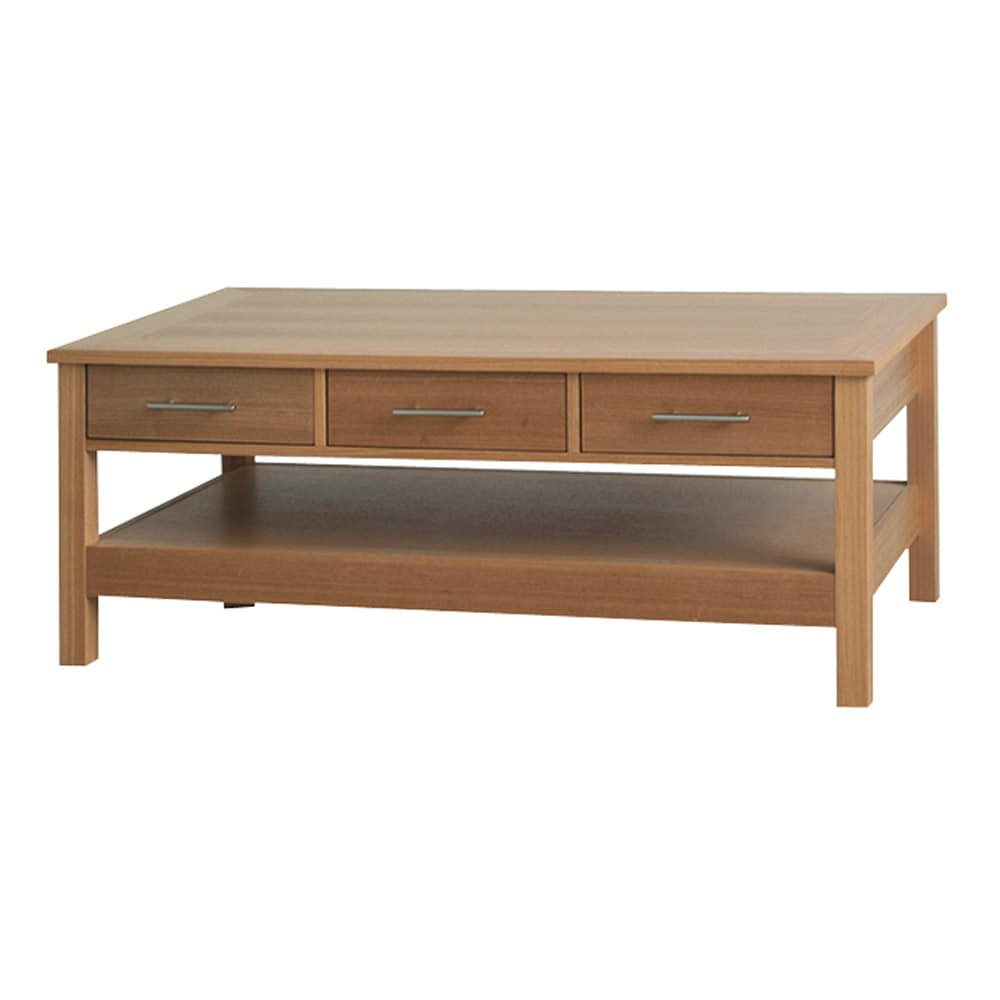 Oakridge coffee table with 3 drawers 14045256 for Coffee tables overstock