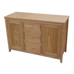 Ashton Natural Wood Sideboard with 3 Drawers
