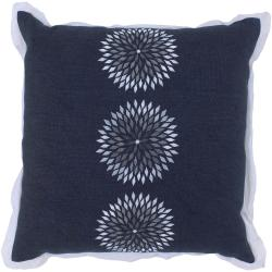 Zurich Navy Blue Floral Decorative Pillow