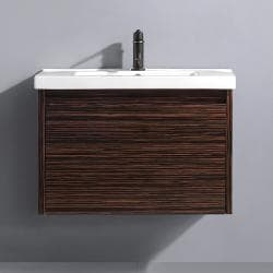 Vigo 32-inch Espresso Petit Single Bathroom Vanity