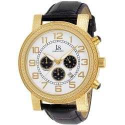 Joshua & Sons Men's Stainless Steel Chronograph Strap Watch