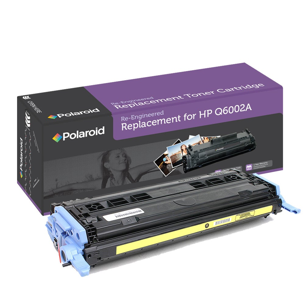 HP 124A Yellow Toner Cartridge by Polaroid (Remanufactured)