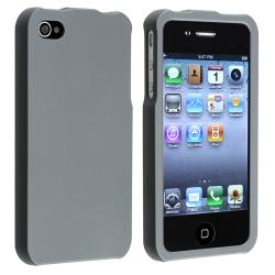 Smoke Snap-on Rubber Coated Case for Apple iPhone 4/ 4S