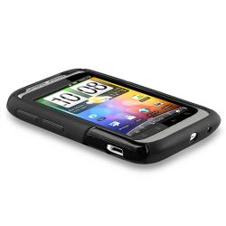 Black Case/ LCD Screen Protector/ Headset/ Charger for HTC Wildfire S
