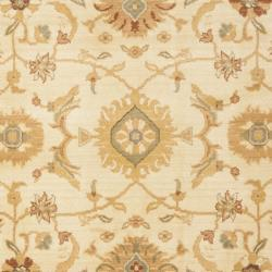 Oushak Cream/ Gold Powerloomed Rug (8' x 11')