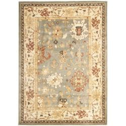 Safavieh Oushak Blue/ Cream Powerloomed Rug (4' x 5'7)