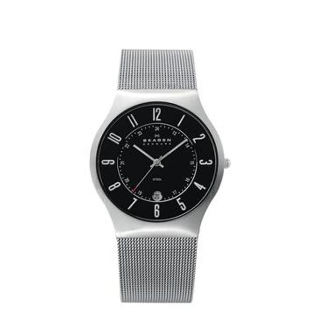 Skagen Men's Denmark Stainless Steel Black Dial Watch