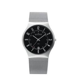 Skagen Men's Denmark Stainless Steel Black Dial Watch