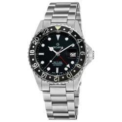 Grovana Men's 1572.2137 'GMT' Stainless Steel Bracelet Automatic Watch