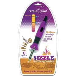 Purple Cows 'Sizzle Dual Temp' Craft Iron
