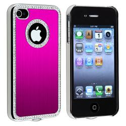 Bling Luxury Hot Pink Snap-on Case for Apple iPhone 4/ 4S