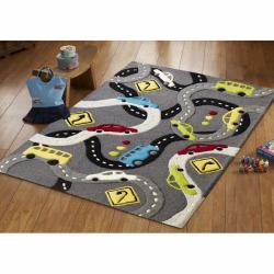 nuLOOM Handmade Kids Streets and Cars Wool Rug (3'6 x 5'6)