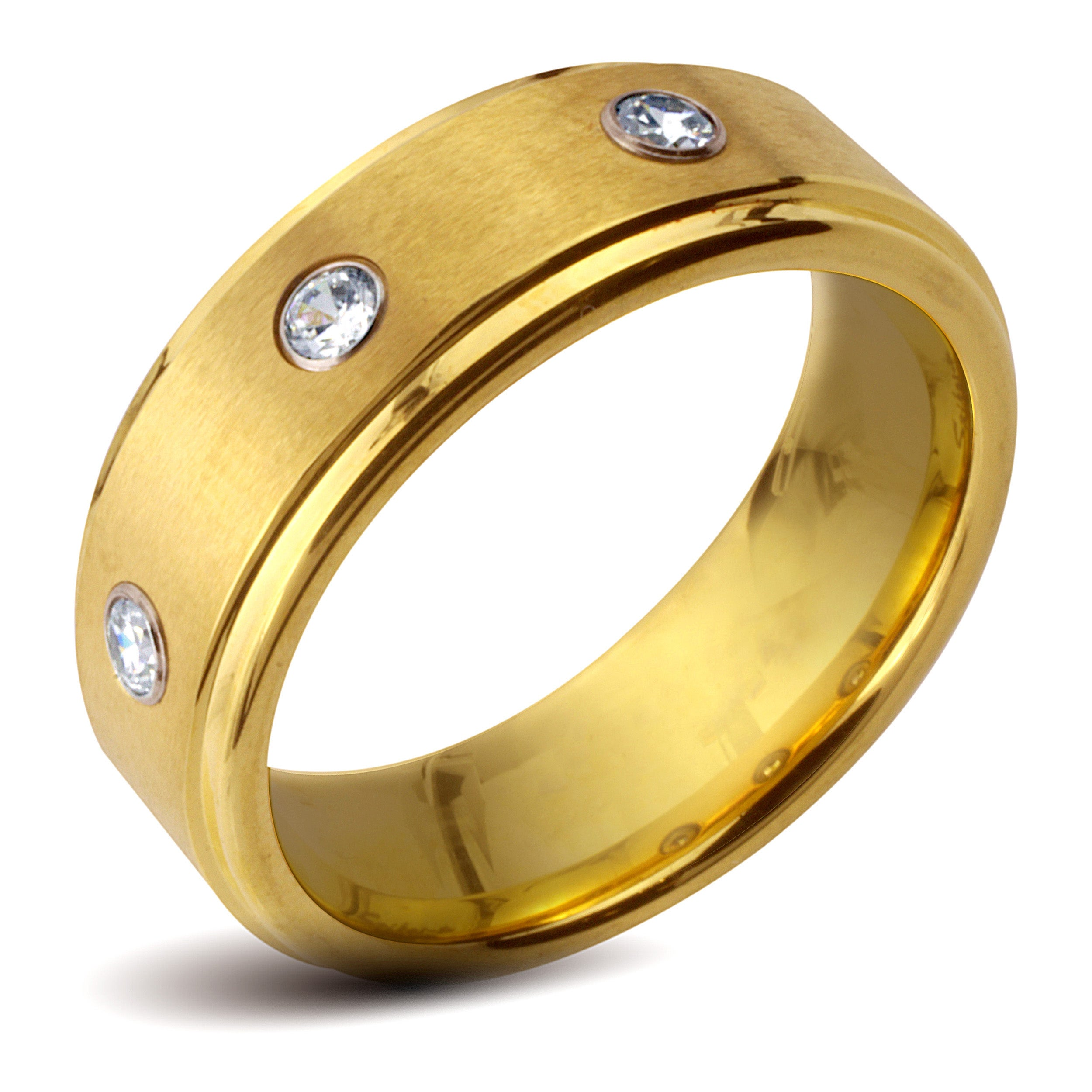 Eziba Collection Goldplated Tungsten Carbide Men's Cubic Zirconia Ring at Sears.com