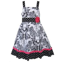 AnnLoren Girls Damask Dress