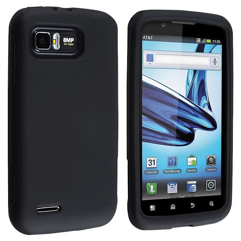 Black Silicone Skin Case for Motorola Atrix 2 MB865