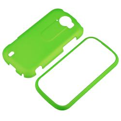 Green Snap-on Rubber Coated Case for HTC T-Mobile MyTouch 4G Slide