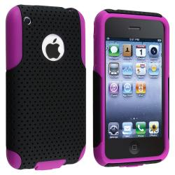 Purple Skin/ Black Mesh Hybrid Case for Apple iPhone 3G/ 3GS