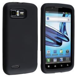 Black Silicone Skin Case for Motorola Atrix 2 MB865