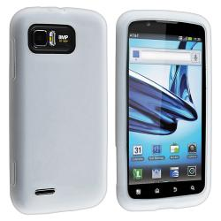White Silicone Skin Case for Motorola Atrix 2 MB865