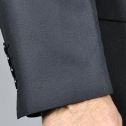 Men's Black 3-Button Vested Suit