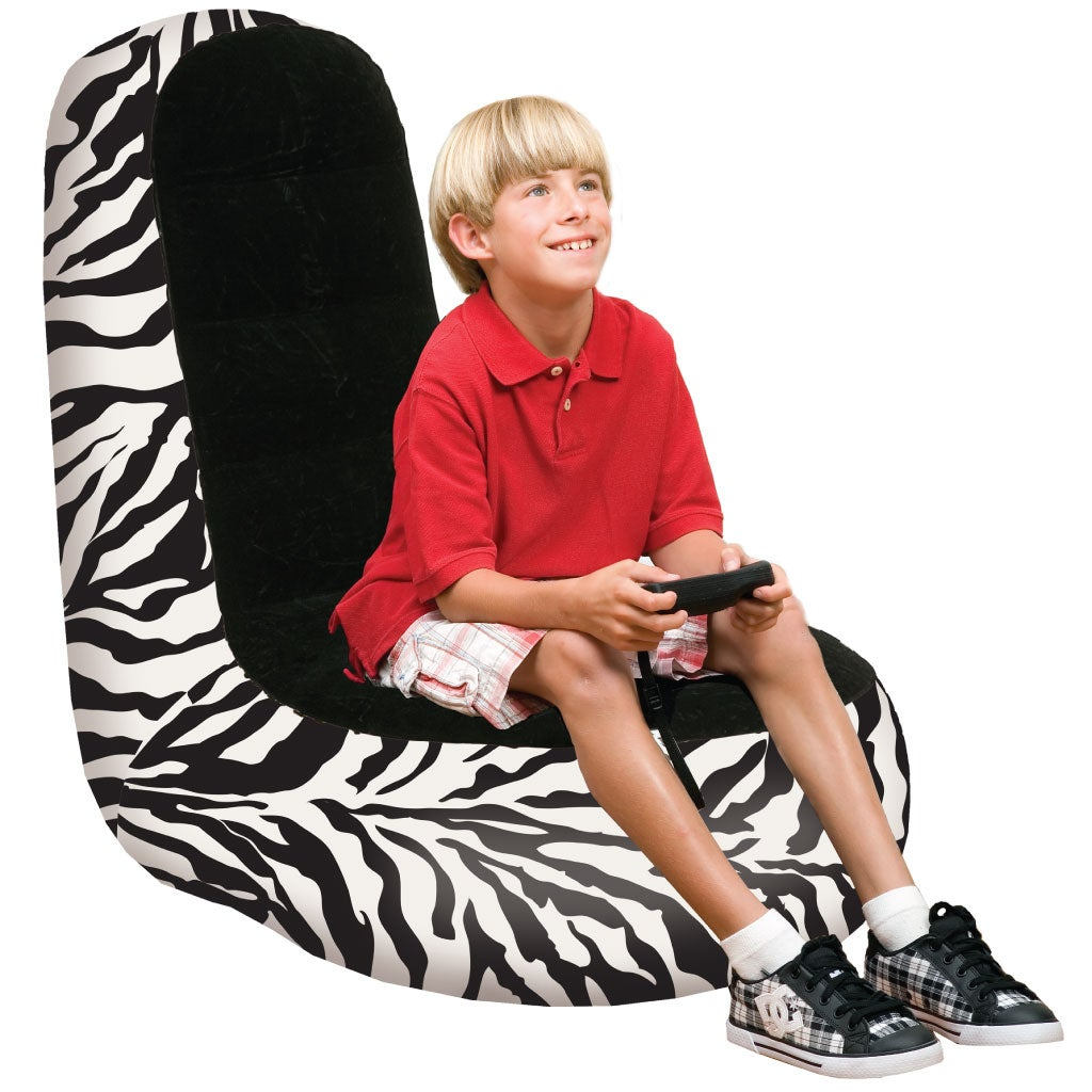 Pure Comfort Inflatable High Back Zebra Gaming Chair
