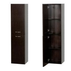 Wyndham Collection Accara Espresso Oak Bathroom Wall Cabinet