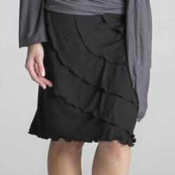 Lilac Clothing Women's Maternity Ruffle Skirt