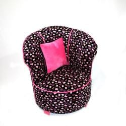Magical Harmony Kids Minky Black Skull Tulip Chair