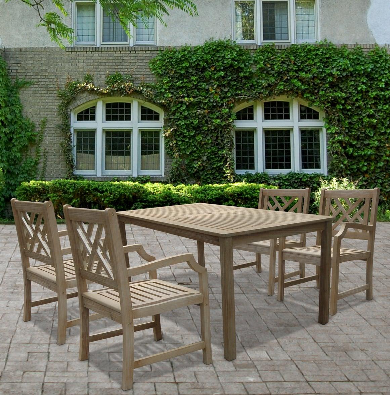 Renaissance 5 Piece Table Armchair Outdoor Dining Set Overstock Shopping