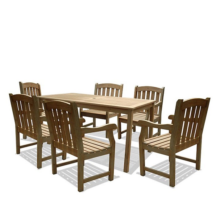 Renaissance 7 piece Table Armchair Outdoor Dining Set  : L14058755 from www.overstock.com size 700 x 700 jpeg 49kB