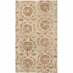 nuLOOM Handmade Persian New Zealand Wool Ivory Rug (5' x 8')