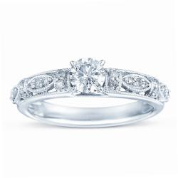 10k White Gold 1/2ct TDW Diamond Engagement Ring (H-I, I1-I2)