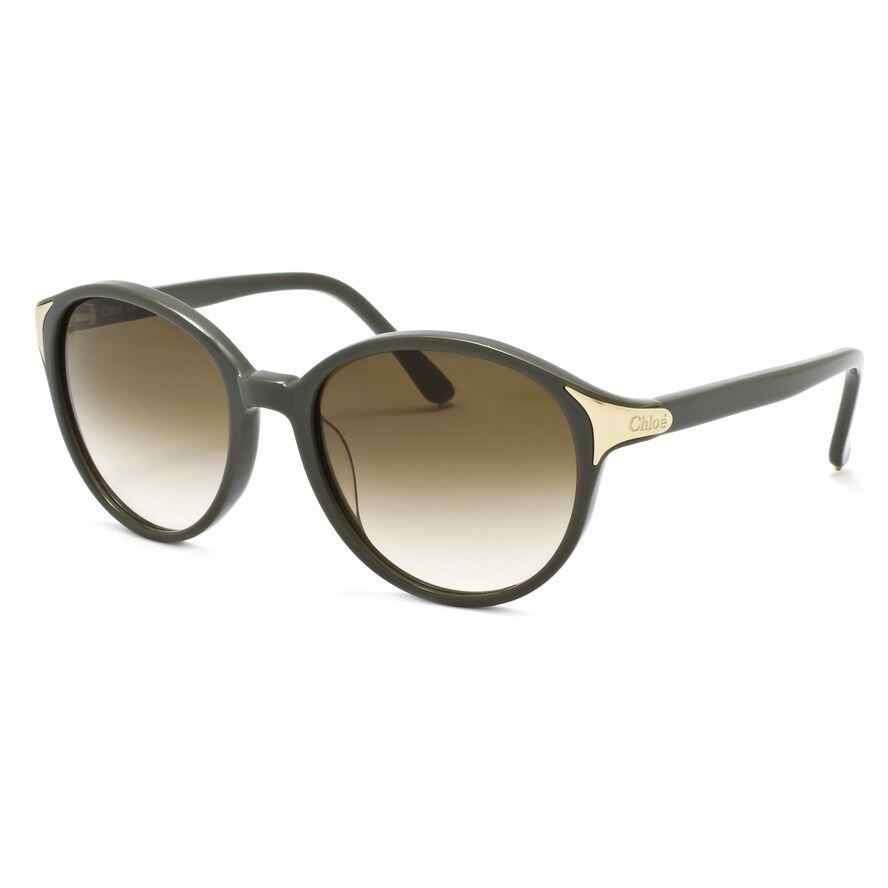 Chloe Women's Green/ Grey Fashion Sunglasses
