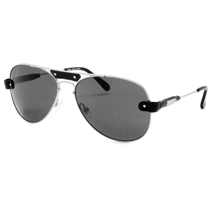 Chloe Unisex 'Tamaris' Silver Aviator Sunglasses